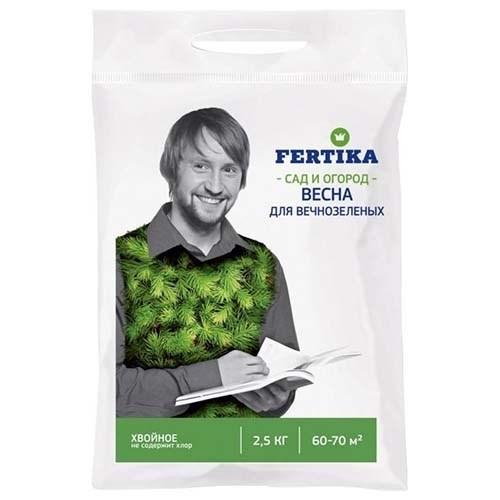 """Удобрение Фертика """"Хвойное"""", для вечнозеленых (весна)"""